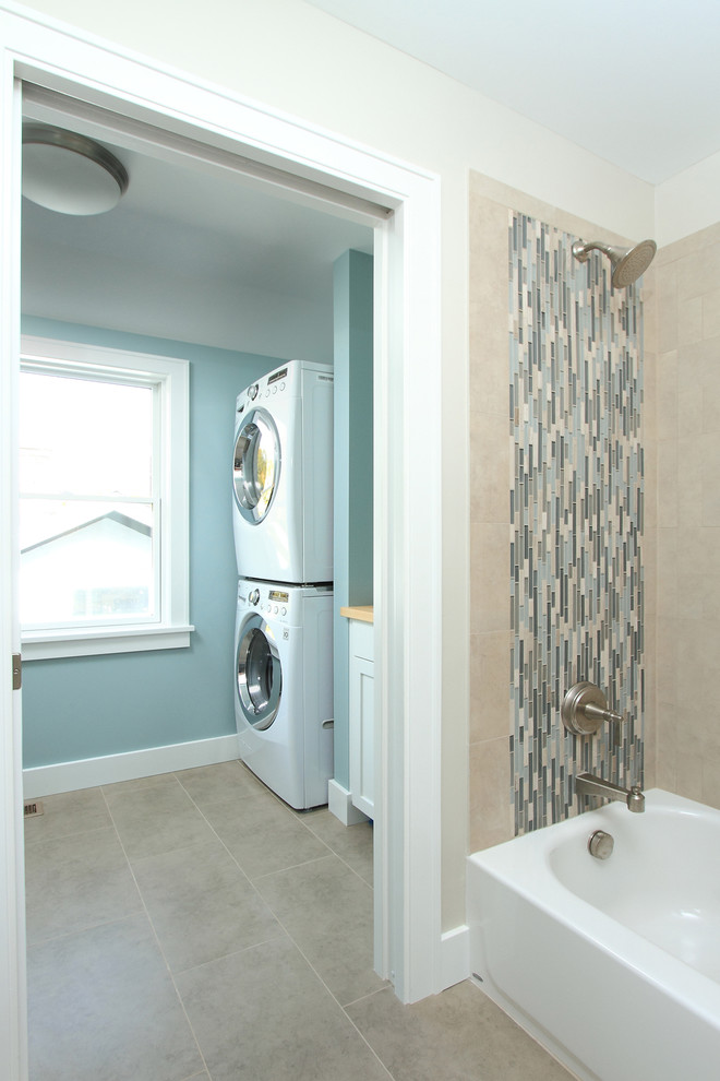12x24 Tile Laundry Room Traditional with Bathtub Dryer Laundry Room Mosaic Tile Second2