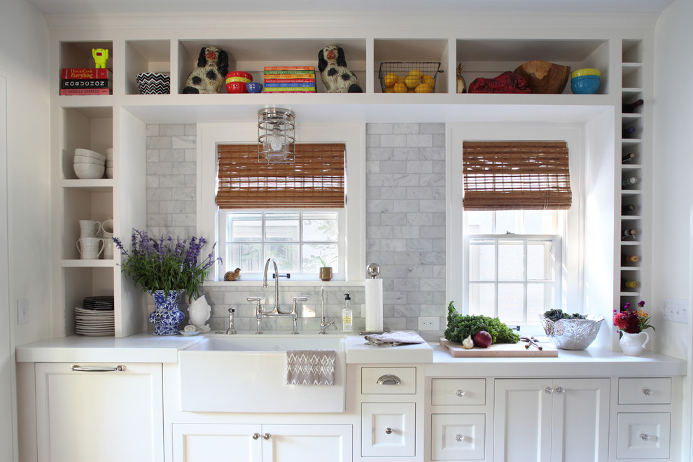 3x6 Subway Tile Kitchen Traditional with Built in Shelves Built in Wine Cubbies Ceiling Mounted