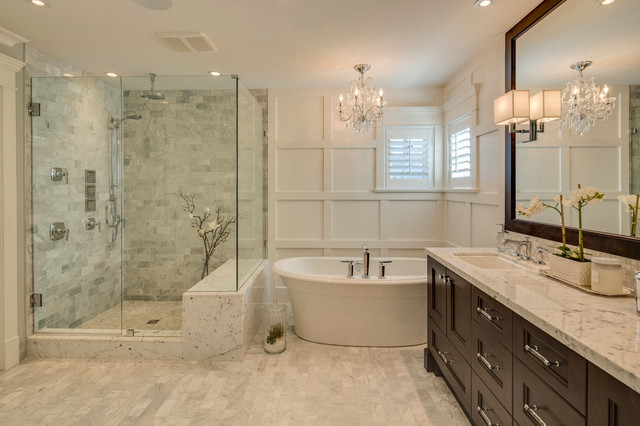 4x4 Post Caps Bathroom Traditional with Award Winning Builder Crystal Chandelier Double Sink Framed Mirror