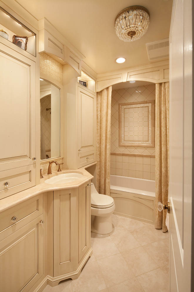 96 Inch Shower Curtain Bathroom Traditional with Built in Cabinets Ceiling Light Copper Bronze