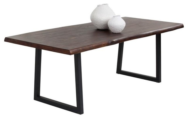 Acacia Wood Furniture with Contemporary Dining Table Dining Table Dining Table with Black