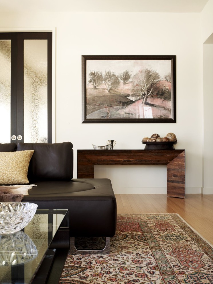 acrylic console table Living Room Contemporary with area rug artwork console table global leather