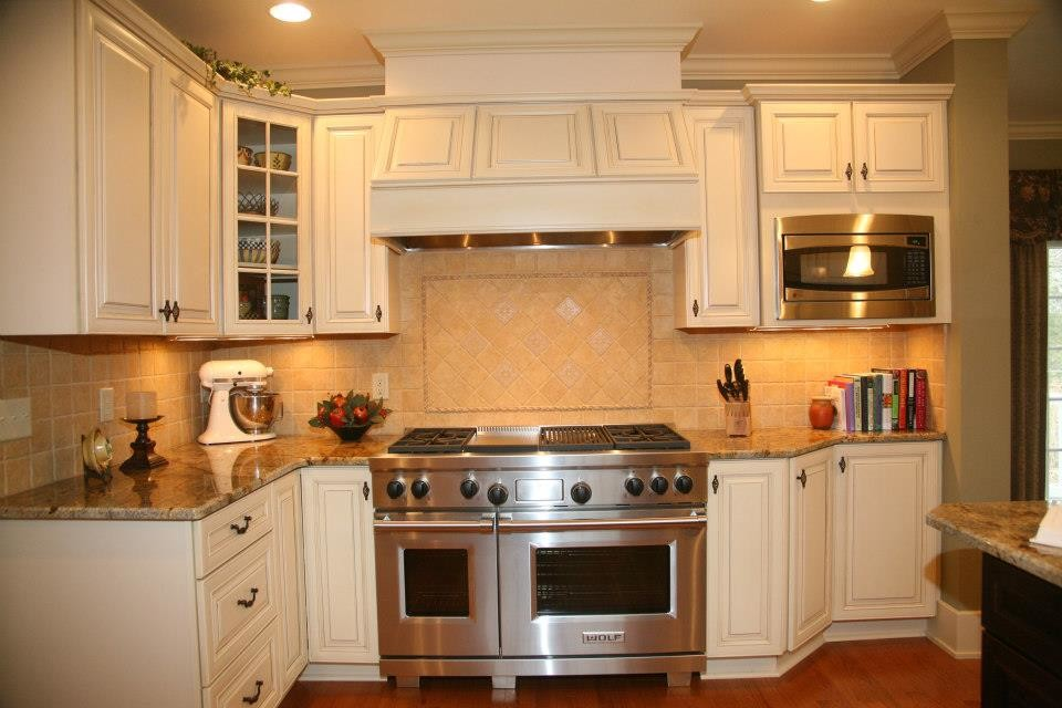Akdy Range Hood Kitchen Traditional with 48 Pro Range Built in Microwave Custom