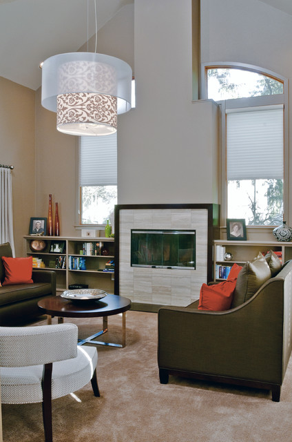 Alf Furniture Living Room Contemporary with Bookcase Bookshelves Built in Shelves Clerestory Custom Furniture Decorative