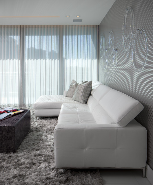 Alf Furniture Living Room Modern with Art Contemporary Curtain Grey Wall Leather Sofa Rug Sectional