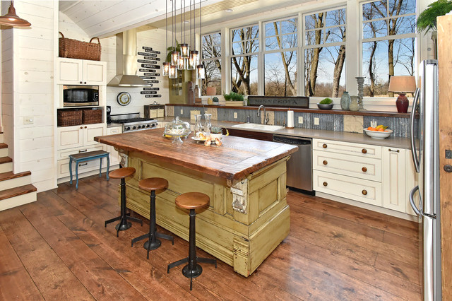 Allen and Roth Closet Kitchen Rustic with Glass Pendant Lights Industrial Industrial Bar Stools Renovation Rustic