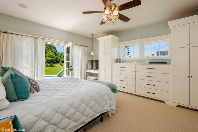 Allen and Roth Patio Furniture Bedroom Beach with Bench Seating Built in Armoire Ceiling Fan Green Accent