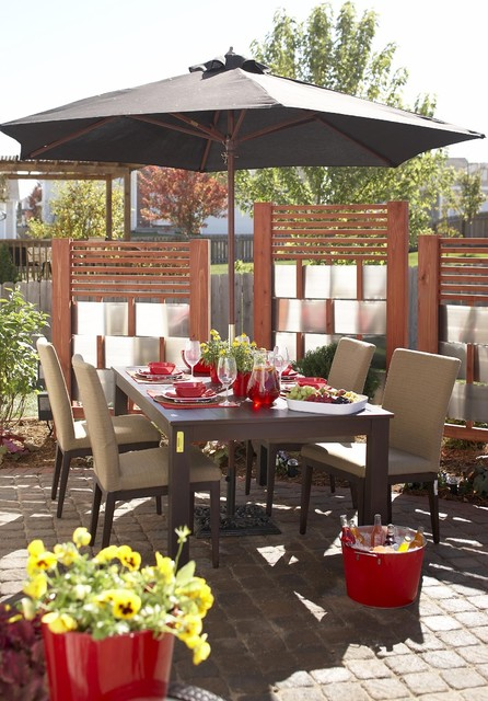 Allen and Roth Patio Furniture Patio Traditional with Dining Chairs Dining Table Landscape Outdoor Dining Outdoor Furniture