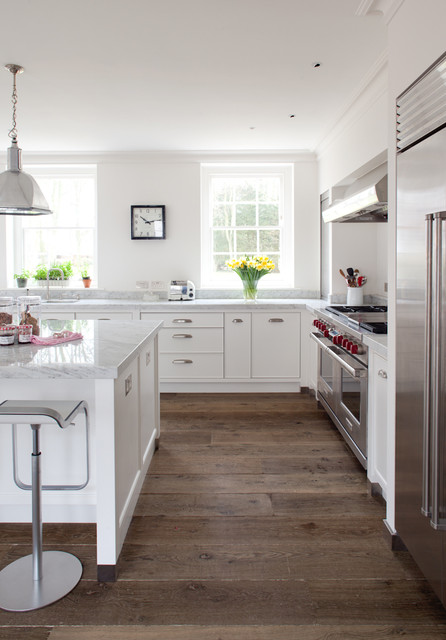Allure Vinyl Plank Flooring Kitchen Farmhouse With Bin Pulls Clock Cup  Pulls Hand Painted Handcrafted Cabinets