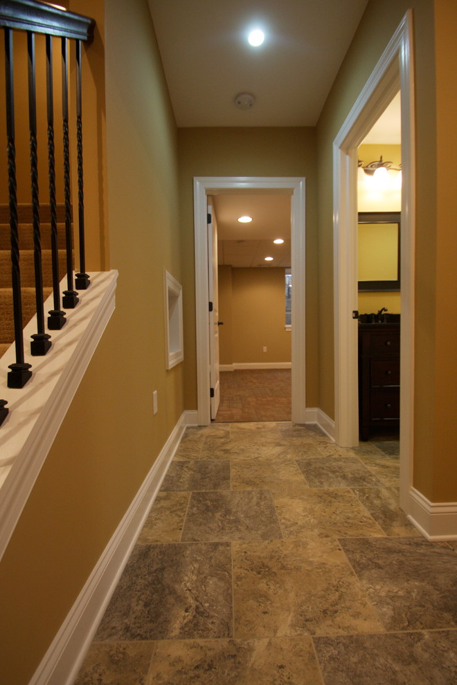 Alterna Flooring Basement Traditional with Finished Basement