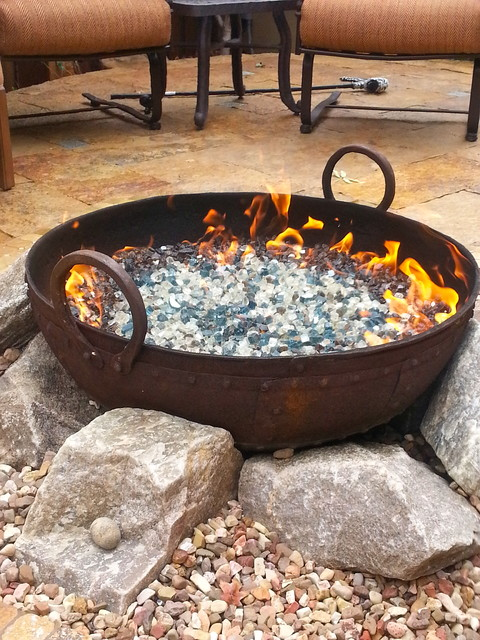 american fireglass patio traditional with cedar arbor fire feature firepits flagstone patio fountain patio - American Fireglass