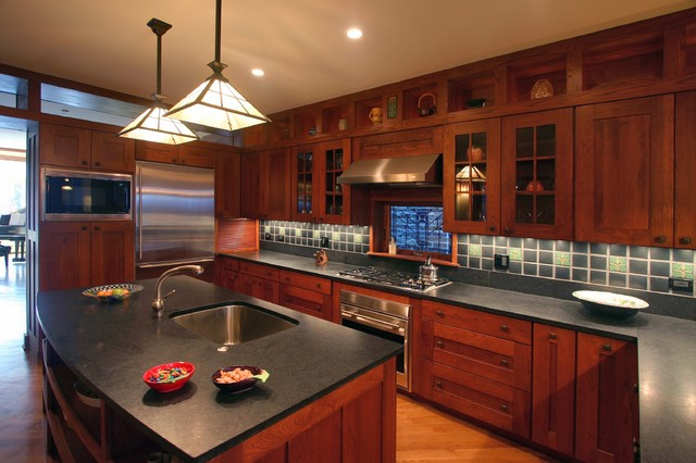 Amish Kitchen Cabinets Kitchen Craftsman with Ceiling Lighting Craftsman Style Glass Front Cabinets Kitchen Hardware