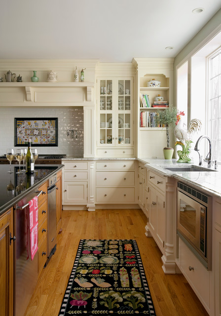 Amish Kitchen Cabinets Kitchen Traditional with Bar Faucet Book Shelves China Display Glass Panel Cabinets