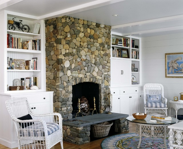 Andirons Living Room Beach with Andirons Bookshelves Built in Shelves Cottage Fireplace Hearth Round Rug