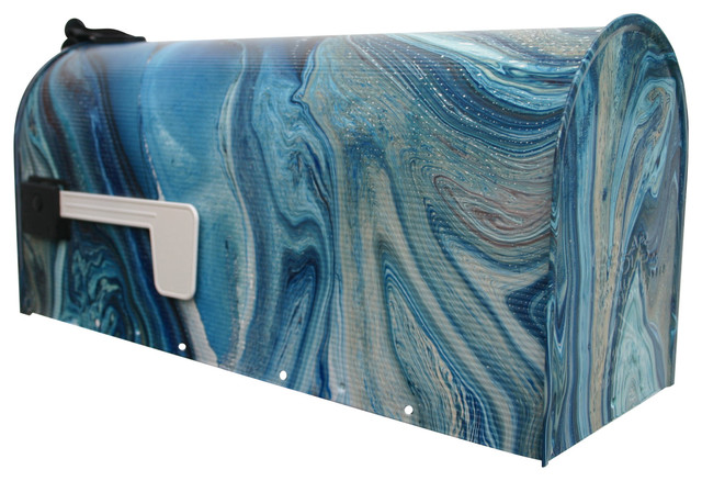 Apartment Mailboxes with Apartment Blue Custom Gardendecor House Housewares Mail Marble Ooak