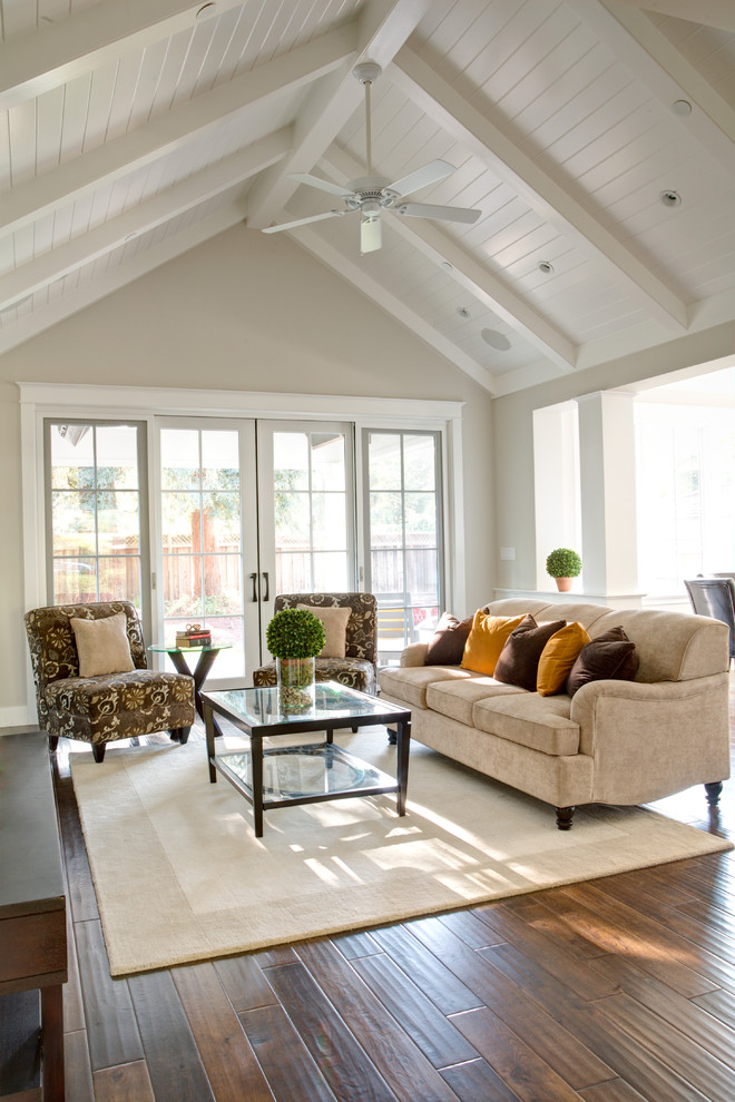 Armless Chair Family Room Traditional with Angled Ceiling Armchair Ceiling Fan French Door