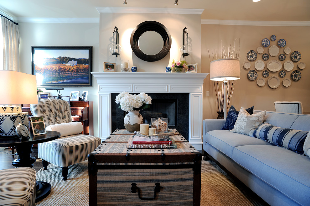 Armless Chair Living Room Traditional with Blue and White Blue Couch Crown Molding