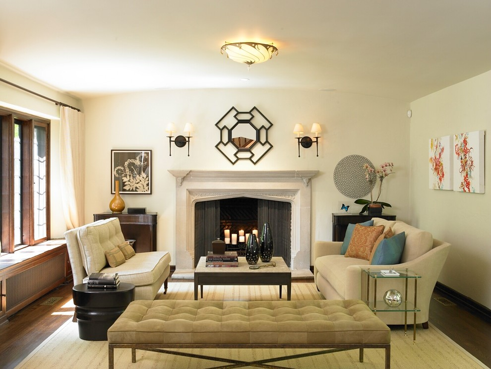 Armless Loveseat Living Room Transitional with Blue Accent Pillows Ceiling Flush Light Fixture