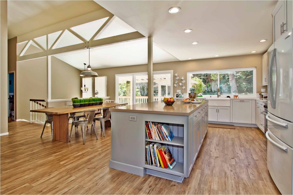 Armstrong Laminate Flooring Kitchen Contemporary with Farmhouse Sink Industrial Light Kitchen Island Pendant