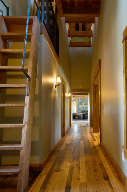 Attic Ladders Hall Rustic with Heavy Ladder Mediterranean Modern Natural Light Open Concept Open