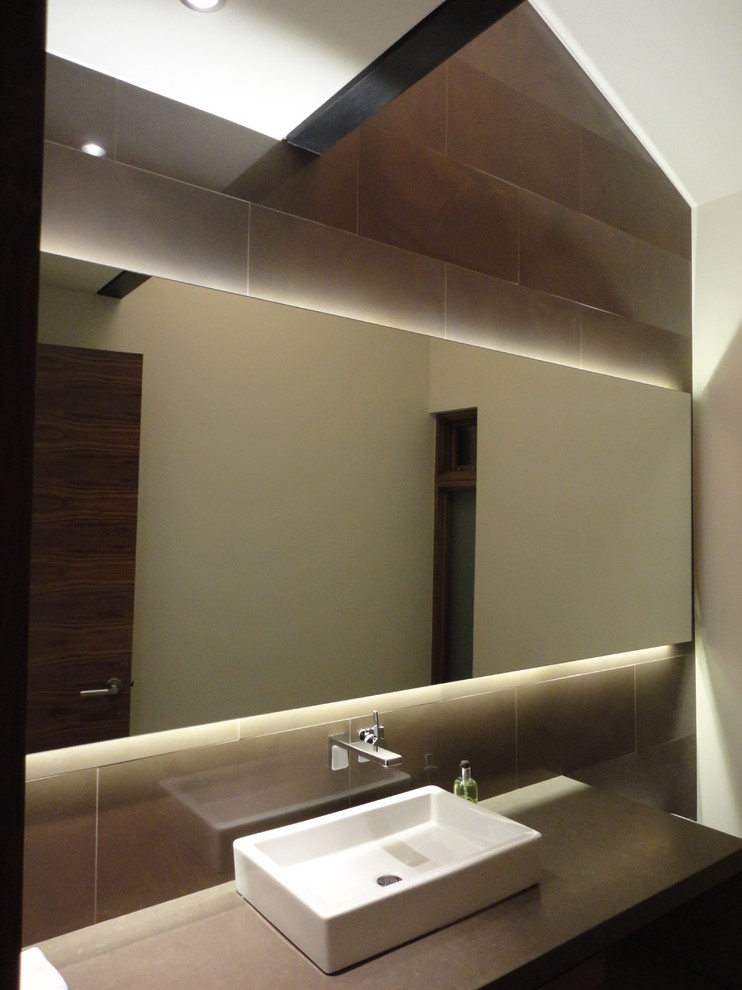 Backlit Mirror Powder Room Contemporary with Backlit Mirror Illuminated Mirror Led Mirror Light