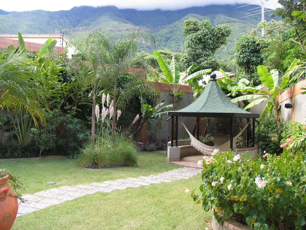 backyard hammock landscape tropical with built in cabana  container plant grass hammock backyard hammock landscape tropical with built in cabana container      rh   cybball