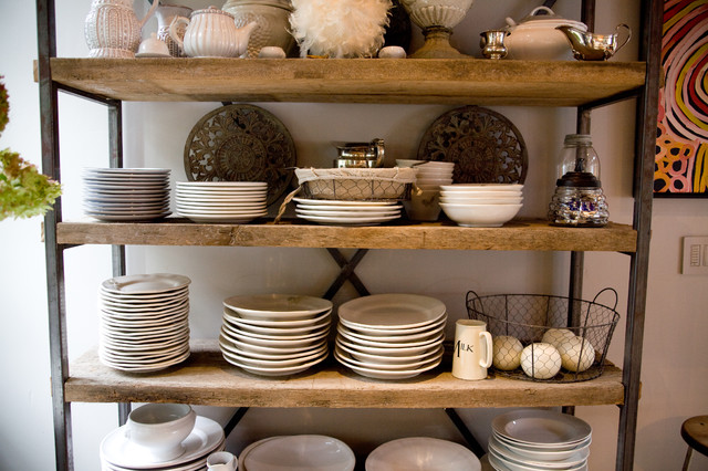 bakers-racks-Kitchen-Industrial-with-bakers-rack-farm-house ...