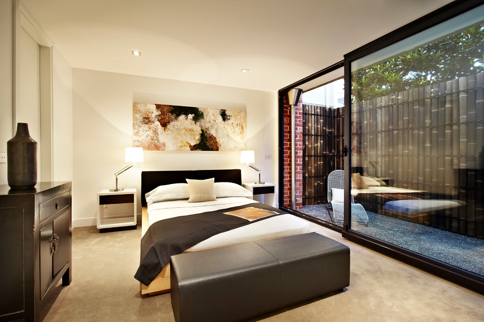 Bamboo Fencing Bedroom Contemporary With Bamboo Fence Bedroom Bench Bedroom  Patio Beige