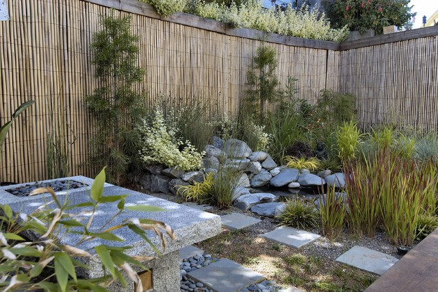 Bamboo Fencing Rolls Landscape Asian with Asian Bamboo Bamboo Fencing Japanese Minimal Natural Paver Pond