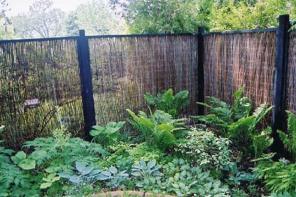 Bamboo Fencing Rolls Landscape Traditional with Perennial Gardens