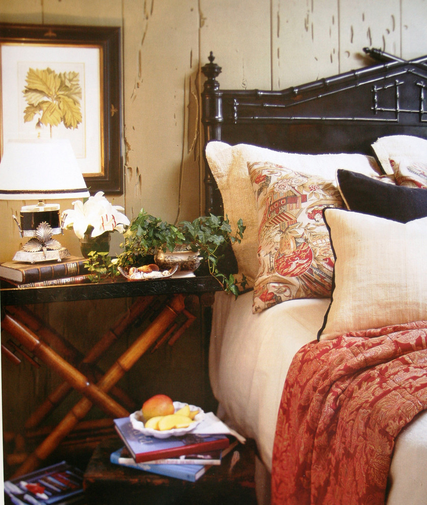 Bamboo Headboard Bedroom Traditional with Antiques Bamboo Headboard Bedside Table Black Bed