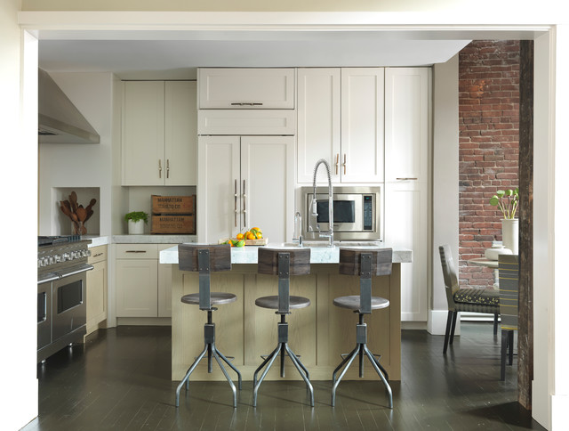 Bar Stools with Arms Kitchen Modern with Brick Wall Brick Wall Wolf Range Exposed Brick Industrial