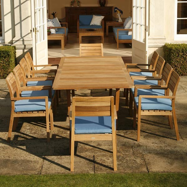 Barlow Tyrie Landscape Contemporary with Authenteak Barlow Tyrie Barlow Tyrie Horizon Stacking Teak Dining