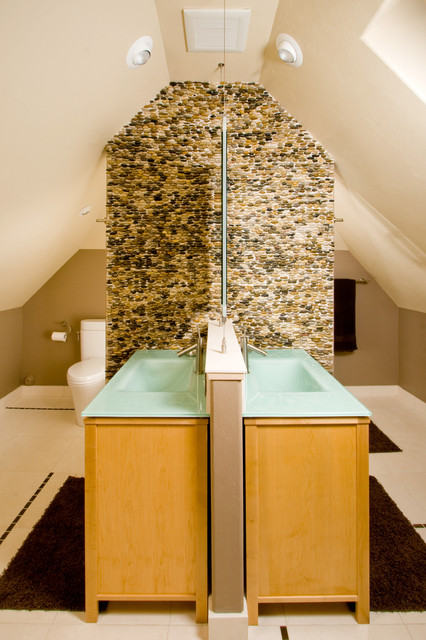 Bathroom Vanities Lowes Bathroom Contemporary with Accent Wall Bath Mat Ceiling Lighting Double Sinks Double