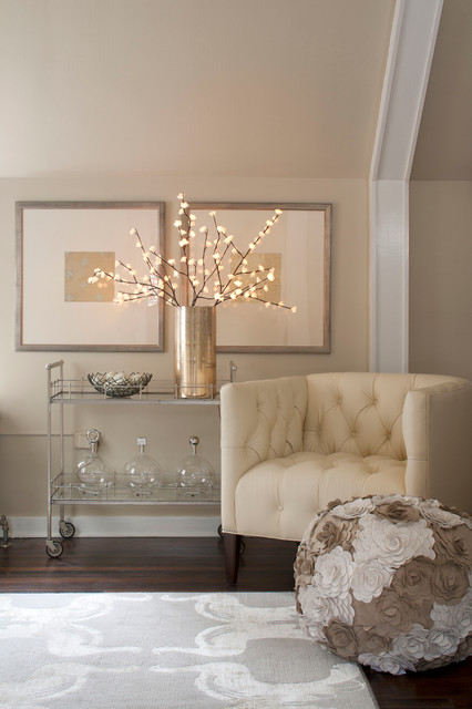 Battery Operated Garland Spaces Traditional with Categoryspacesstyletraditionallocationdenver