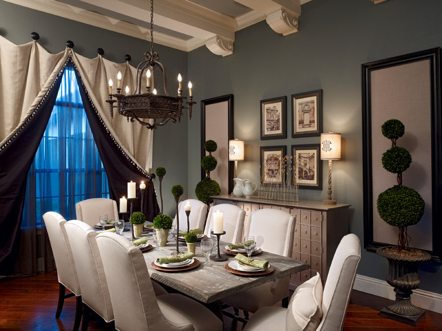Battery Operated Table Lamps Dining Room Traditional with Apothecary Beams Buffet Ceiling Treatment Chandelier Dark Gray Wall