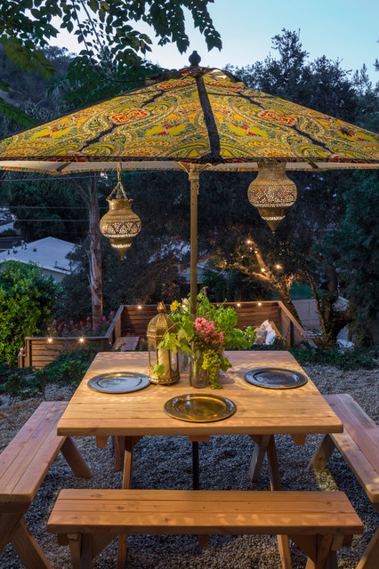 Battery Operated Table Lamps Patio Eclectic with Dining Bench Moroccan Lanterns Outdoor Dining Outdoor Lighting Paisley