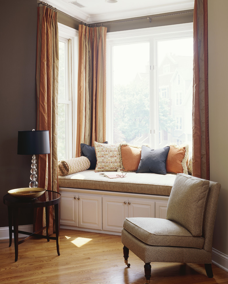 Bay Window Curtain Ideas Living Room Contemporary With Accent Table Accent  Wall Alcove Bay Window