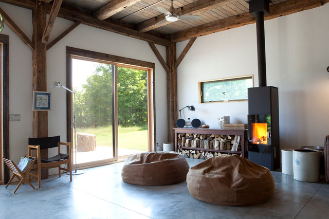 Bean Bag Chairs Ikea Living Room Rustic with Bean Bag Chairs Cabin Ceiling Fan Concrete Flooring Exposed