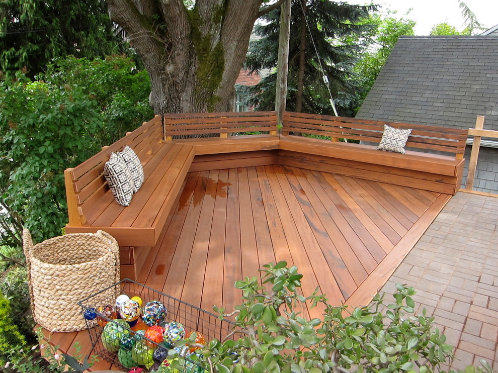 Benches with Backs Deck Traditional with Basket Bench Built in Bench Deck Deck Built