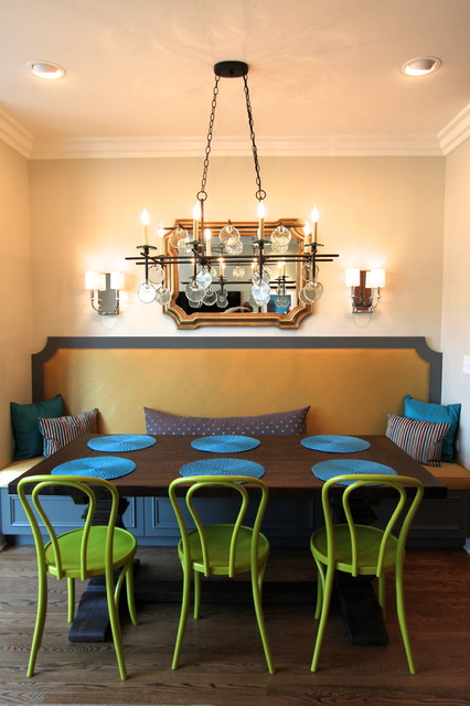 Bentwood Chair Dining Room Traditional with Banquette Banquette Seating Bench Seating Bentwood Chair Bentwood Chairs