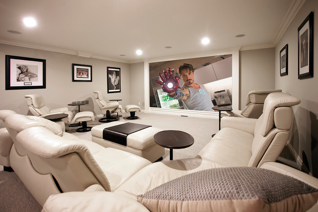 Big Man Recliner Home Theater Contemporary with Categoryhome Theaterstylecontemporarylocationdetroit