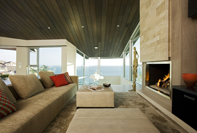 Bioethanol Fireplace Family Room Contemporary with Accent Ceiling Accent Colors Architecture Artwork Ceiling Lighting Ceiling