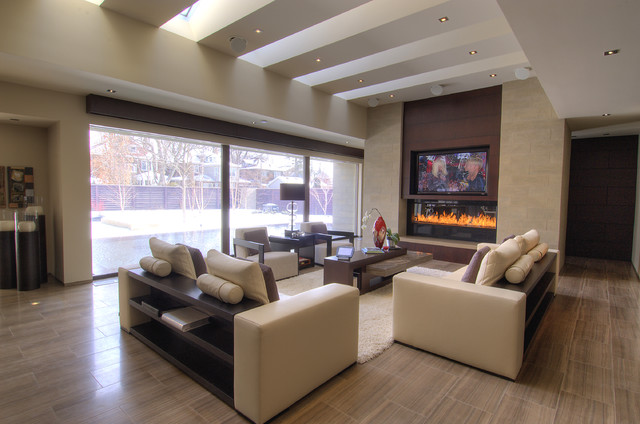 black out blinds Family Room Contemporary with Creston Inca Lifts London Ontario Runco Speakercraft Vantage Controls