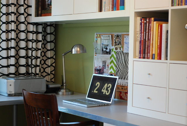 blackout curtains ikea Home Office Modern with bookcase bookshelves built in storage bulletin board curtains drapes
