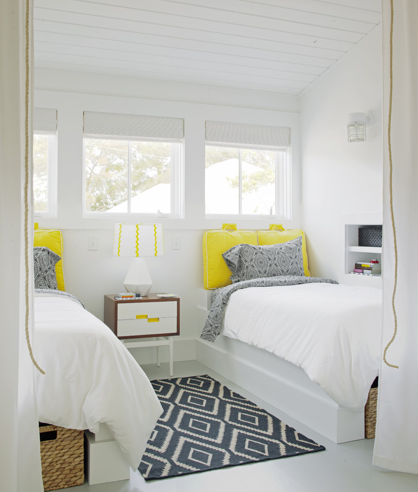 blinds galore Bedroom Transitional with airy beach house bead board beams Bedroom