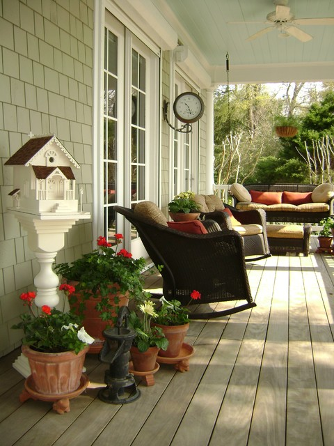 Blinds Wilmington Nc Porch Traditional with Birdhouse Ceiling Fan Cottage Covered Patio French Door Patio