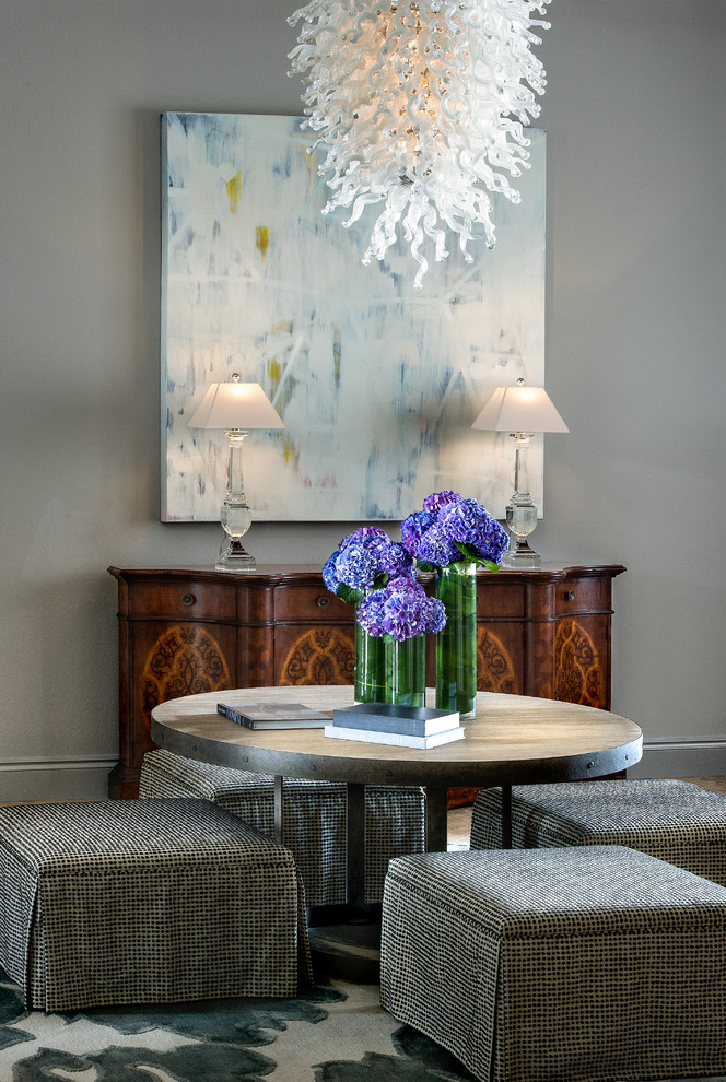 Blown Glass Chandelier Living Room Transitional with Blown Glass Chandelier Console Table Round Table