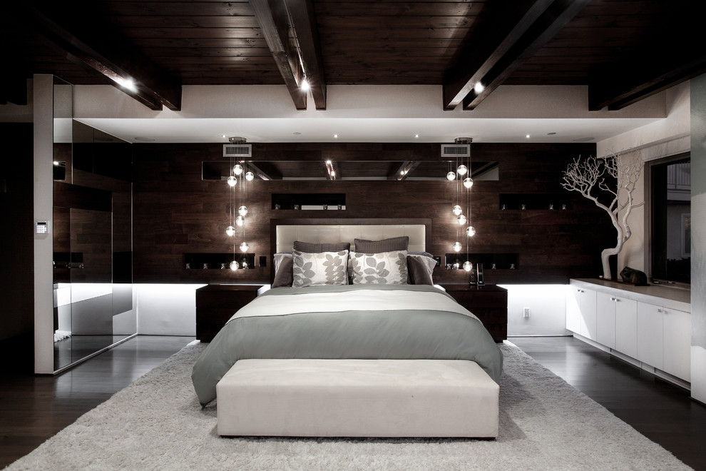 Bocci Lighting Bedroom Contemporary with Beach Built in Contemporary Dark Room Fabrication Large