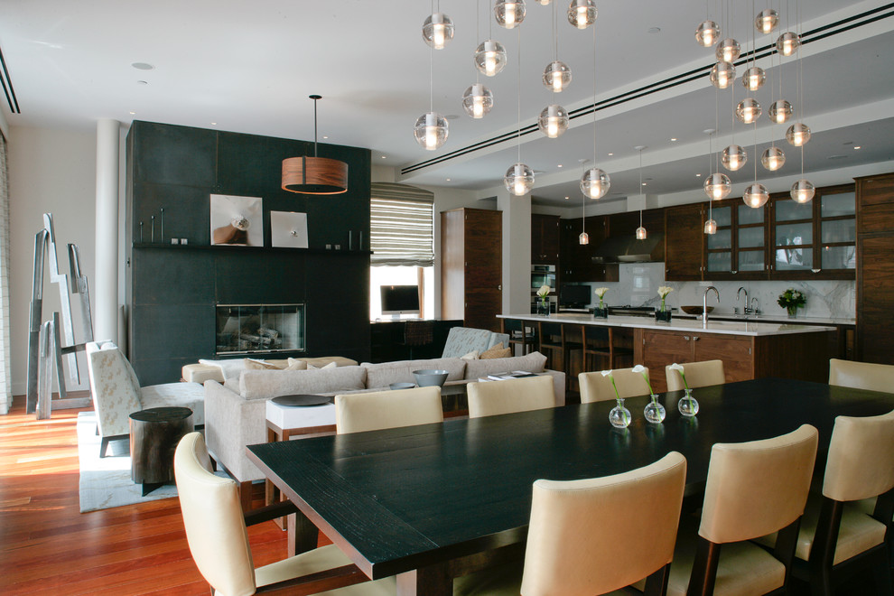 Bocci Lighting Dining Room Contemporary with Armchairs Dining Chairs Dining Table Green Kitchen